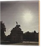 Statue Of Angel Of Peace Atop The Wellington Arch Wood Print