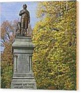 Statue Of Daniel Webster - Central Park Wood Print