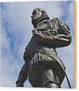 Statue Of Don Pedro Menendez De Aviles Wood Print