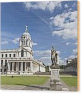 Statue Of King George II As A Roman Emperor In Greenwich Wood Print