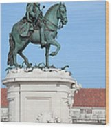 Statue Of King Jose I In Lisbon Wood Print