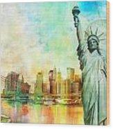 Statue Of Liberty Wood Print