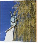 statue of liberty in Paris Wood Print