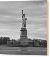 Statue Of Liberty Liberty Island New York City Wood Print