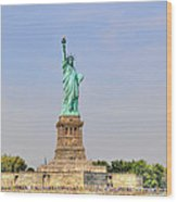 Statue Of Liberty Macro View Wood Print
