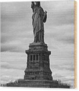 Statue Of Liberty National Monument Liberty Island New York City Usa Wood Print by Joe Fox