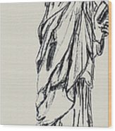 Statue Of Liberty New York Wood Print by Ginette Callaway