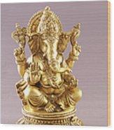 Statue Of Lord Ganesh Wood Print