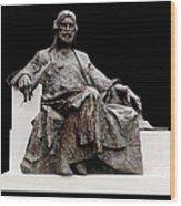 Statue Of Nizami Ganjavi  Wood Print