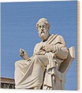 Statue Of Plato Wood Print