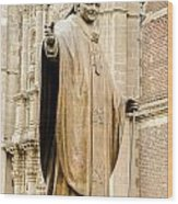 Statue Of Pope John Paul II Wood Print