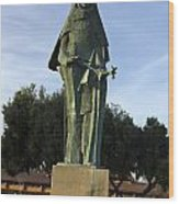 Statue Of Saint Clare Santa Clara California Wood Print