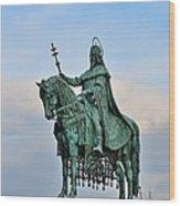 Statue Of St Stephen Hungary King Wood Print