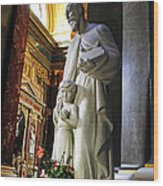 Statue Of St Stephen's Wood Print