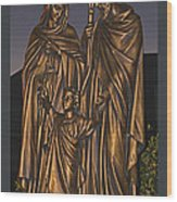 Statue Of The Holy Family  Wood Print