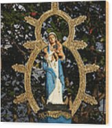 statue of the Virgin Mary in Granada Nicaragua Wood Print
