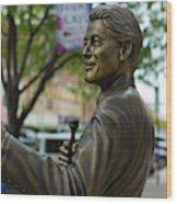 Statue Of Us President Bill Clinton Wood Print