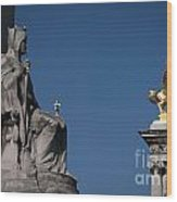 Statues On Pont Alexandre IIi Wood Print