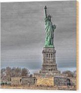 Staute Of Liberty Wood Print