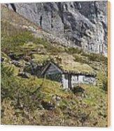 Stavbergsetra - Cowherd Huts Wood Print