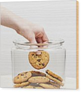 Stealing Cookies From The Cookie Jar Wood Print