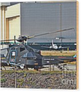Stealth Air Attack Helicopter Wood Print