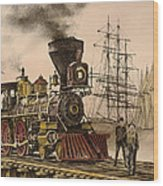 Steam And Sail Wood Print