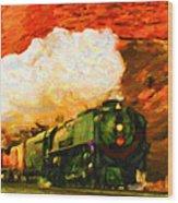 Steam And Sandstone Wood Print