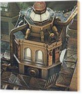 Steam City Wood Print