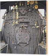Steam Engine 444 Fire Box And The Controls Wood Print