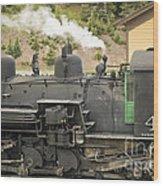 Steam Engine At Cumbres Pass Wood Print