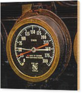 Steam Engine Gauge Wood Print
