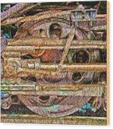 Steam Engine Linkage 2 Wood Print