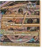 Steam Engine Linkage Wood Print