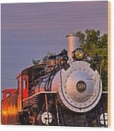 Steam Engine Number 509 Wood Print