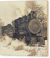 Steam Engine Number Two Wood Print