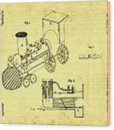 Steam Engine Patent 1869 Wood Print