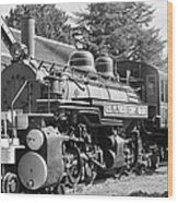 Steam Engine Train Wood Print