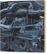 Steam Engine Wheels Wood Print