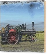 Steam Farming Wood Print
