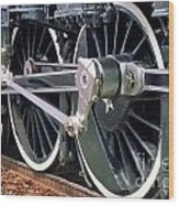 Steam Locomotive Coupling Rod And Driver Wheels Wood Print
