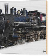 Steam Locomotive Wood Print by Gunter Nezhoda
