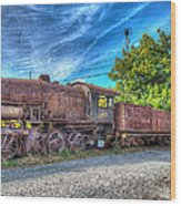 Steam Locomotive No 1151 Norfolk And Western Class M2c Wood Print