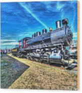 Steam Locomotive No 4 Virginian Class Sa  Wood Print