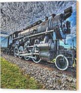 Steam Locomotive No 606 Wood Print
