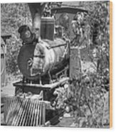 Steam Locomotive Old West V3 Wood Print