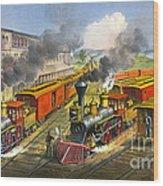 Steam Locomotives 1874 Wood Print