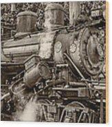 Steam Power Sepia Wood Print