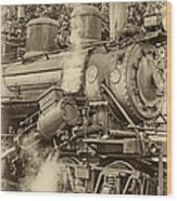 Steam Power Sepia Vignette Wood Print