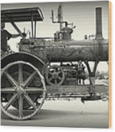 Steam Power Tractor Wood Print